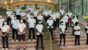 En esta nota te contamos sobre el Equipo de Refugiados de los Juegos Olímpicos de Tokyo. La imagen es de los miembros del equipo.